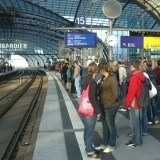 Berlin - Dworzec kolejowy Hauptbahnhof - perony